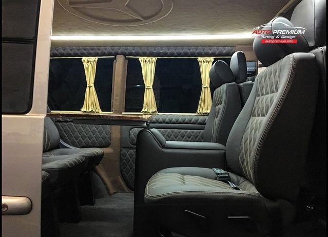 Обшивка салонов авто Перетяжка сидений Переоборудование микроавтобусов