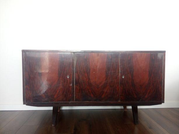 Okazja fornirowana komoda prl vintage do renowacji mała retro
