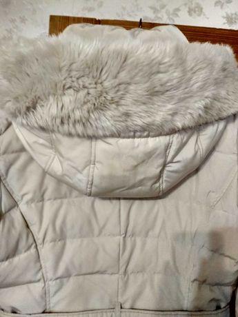 Зимнее пальто белое