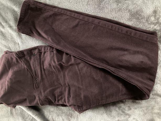 Spodnie ciazowe hm mama s bordowe 38 36 jeansy