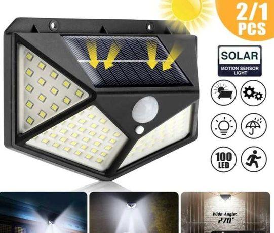 Projetor LED - Energia Solar - c/ Sensor de movimentos