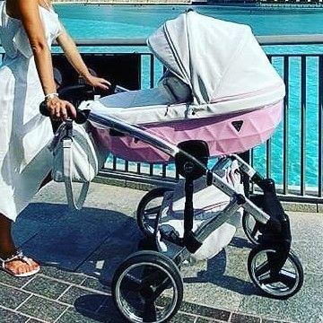 Wózek Junama Candy 2w1 3W1 wózek NIEBIESKI RÓŻ EKOSKÓRA