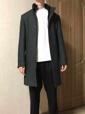 Пальто Теплое утепленное куртка плащ зара zara мужское теплое