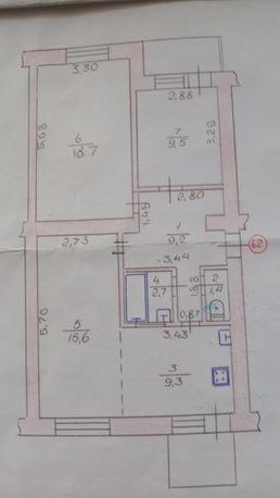 Продам 3-х кімнатну квартиру р-н Гостинцю.