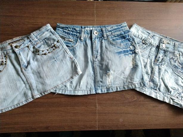 Spódniczki jeansowe r.34