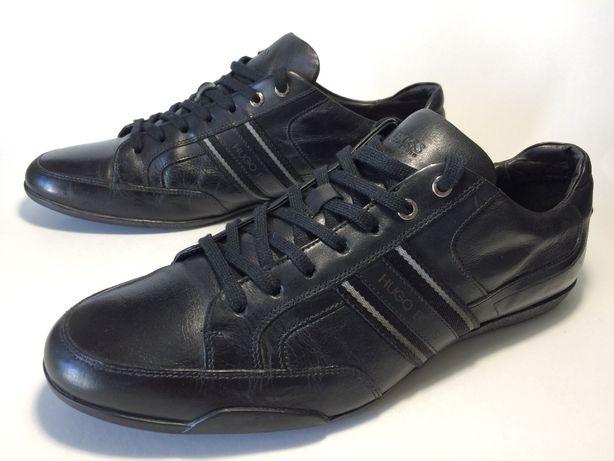 Кожаные кроссовки HUGO BOSS. Размер 45(30 см.) Оригинал.