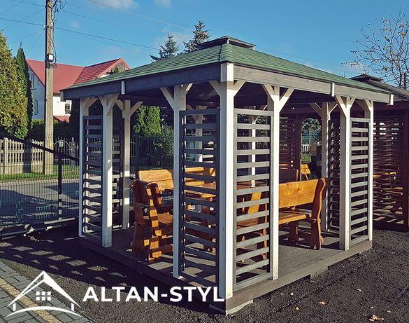 Altany, altanki, wiaty, altana ogrodowa POLA 3x3m PRODUCENT