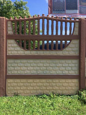 Забор залізобетонний Луцьк.