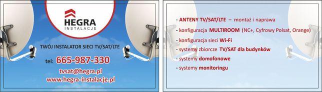 Anteny TV SAT TANIO montaż anten bezawaryjnie 4K Żnin ustawienie