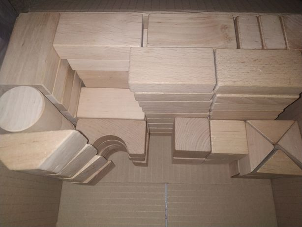 Деревянный конструктор 74 детали
