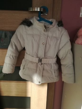 Zimowa biała kurtka 104/110