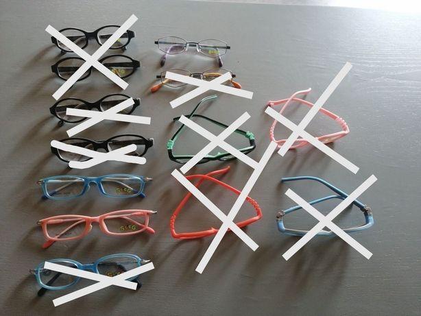 Okulary dziecięce zerówki, oprawki