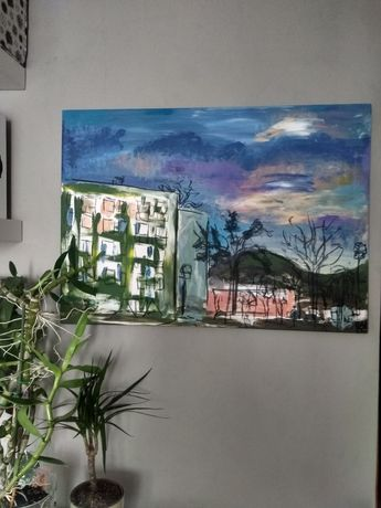 Obraz Widokówki Gdynia I akryl na płótnie 100×70cm