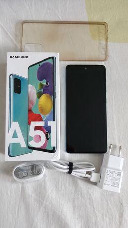 Samsung A51, idealny, 4/128 GB, niebieski