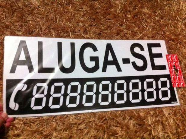Placa Tabuleta: ALUGA-SE 45x20cm # OFERTA PORTES
