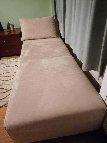 Chaise longue Las kasas em tecido pêssego