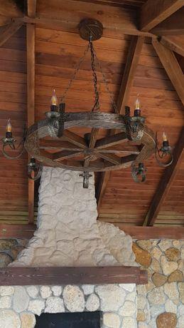 Люстры, светильники деревянные под старину: беседок, домов,бань ,кафе.