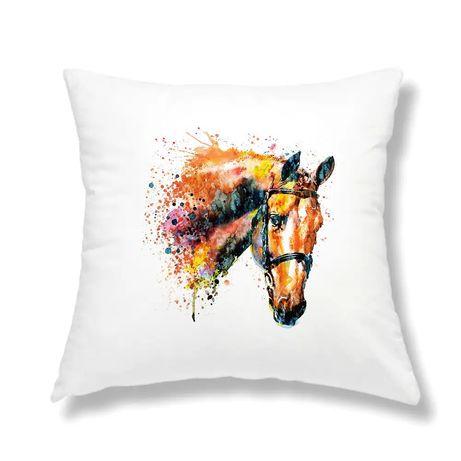 Poduszka jasiek z wypełnieniem koń watercolor 40x40