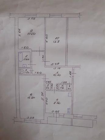 Продам 3-х комнатную квартиру в г.Брянка,Луганской области.