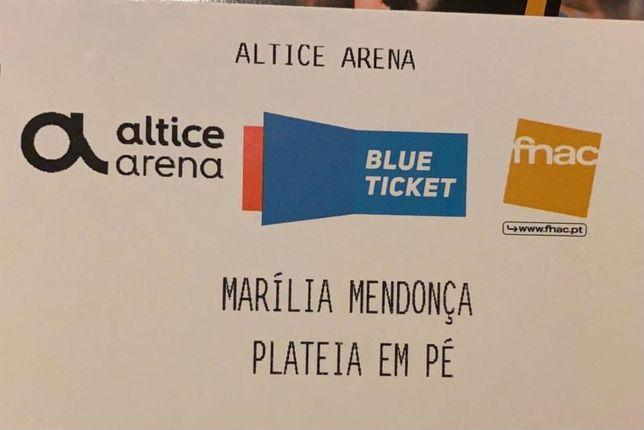 Bilhete Marília Mendonça - Lisboa