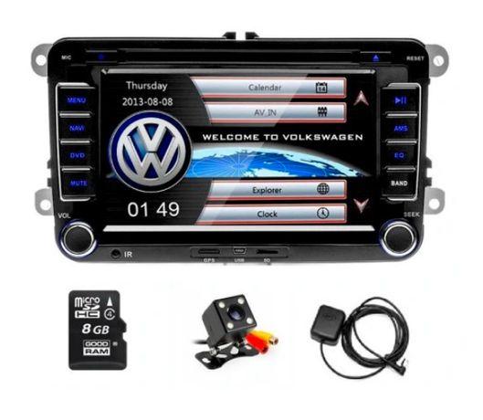 Radio GPS 2DIN VW Passat B6 B7 Golf V VI Skoda FV