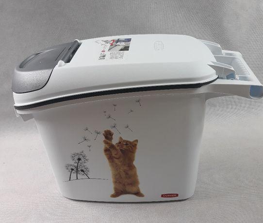 Pojemnik na karmę dla kota żwirek 6kg 15L CURVER