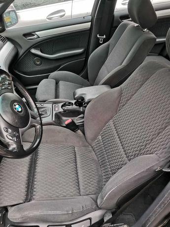 BMW E46 sedan wnętrze sportsitze fotele boczki kanapa środek