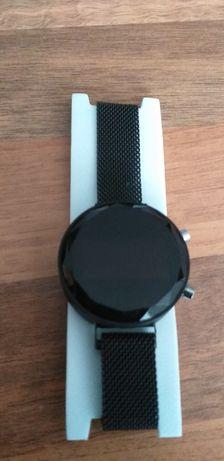 NOWY czarny zegarek zapięcie magnetyczne