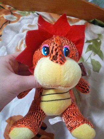 Новый дракон с биркой мягкая игрушка