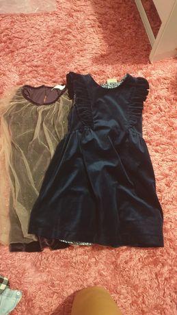Śliczne welurowe sukieneczki 116