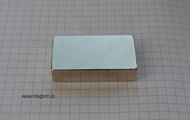 Magnes neodymowy 45x25x10 N42 Płytkowy magnes