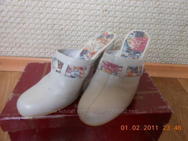 туфли-сабо женские кожанные тм монарх 37 размер