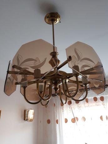 Lampa wisząca + kinkiety