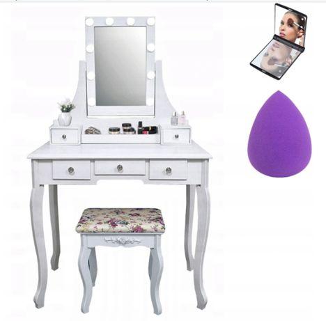 Stylowa damska toaletka kosmetyczna LED Premium + GRATISY