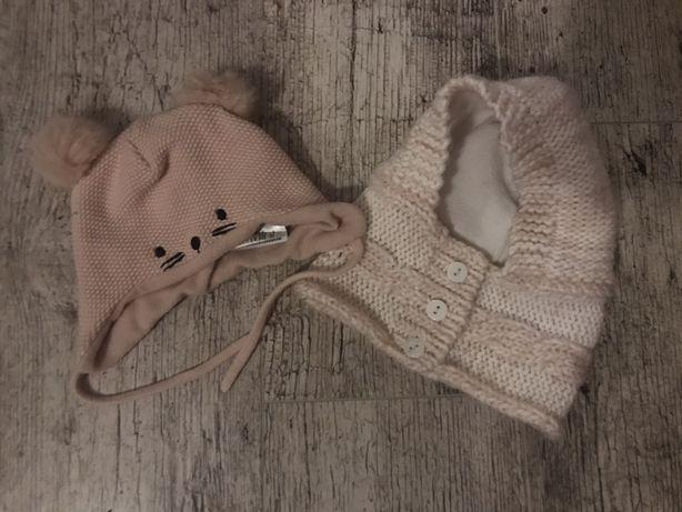 Zestaw czapek dziewczynka 3-6 miesięcy h&m reserved
