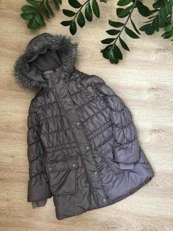 Теплая удлиненная куртка 7-8 лет Next