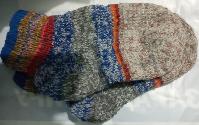 Вязанные, шерстяные носки, новые.