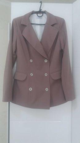 Бежевый женский пиджак / бежевий жіночий піджак / жакет