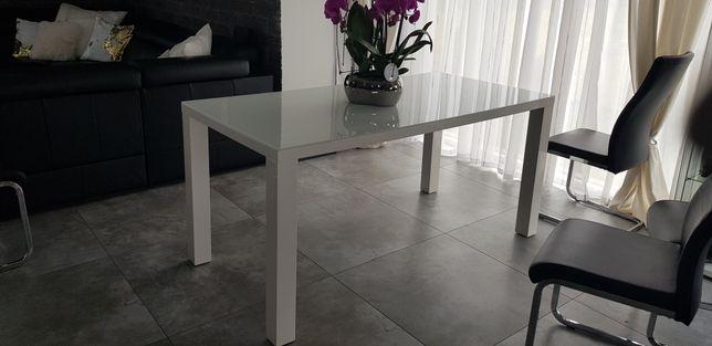 Stół biały 160x80 połysk szkło