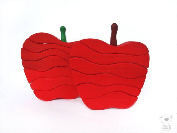 Ukladanka jabłko kolor Montessori