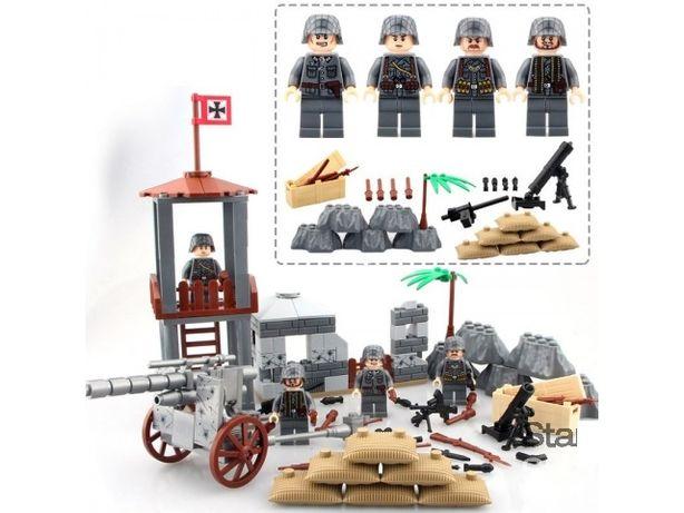 Фигурки опорная огневая точка немецких военных , вермахт аналог лего