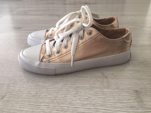 Zlote buty trampki sneakersy Stradivarius 36 37