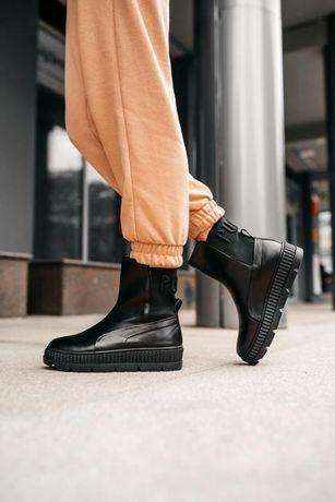 Puma by rihanna chelsea кожаные женские ботинки,р 40,5 (26 см)