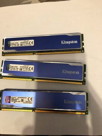 оперативная память DDR3 1600 в радиаторах 12гб 4гб*3шт