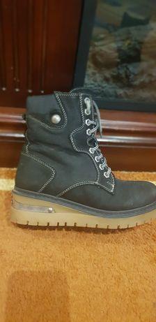Зимние ботинки натурал нубук