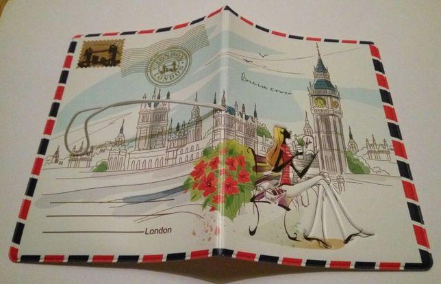 Обложка на паспорт Лондон_Париж 3Д детская