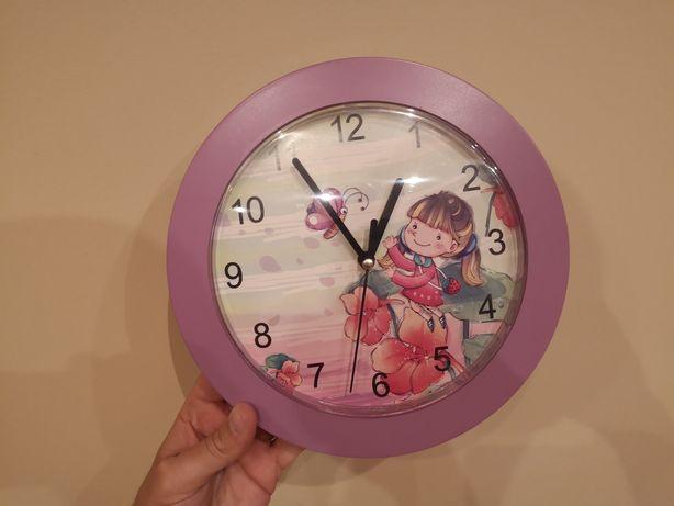 Ładny zegar ścienny do pokoju dziecięcego dla dziewczynki
