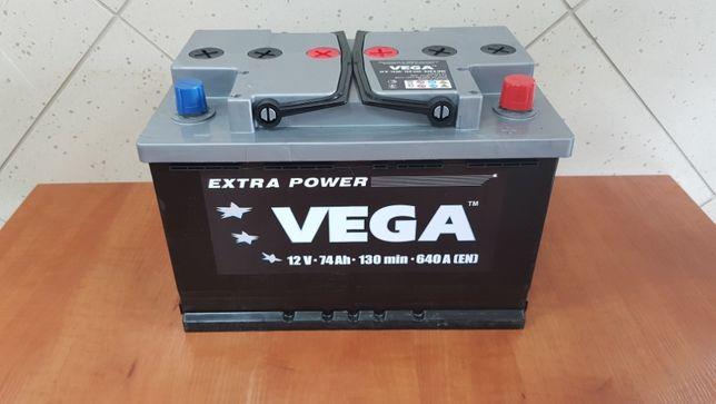 Nowy Akumulator Samochodowy Vega 70Ah 71Ah 72Ah 74Ah 75Ah 76Ah 77 P+ L