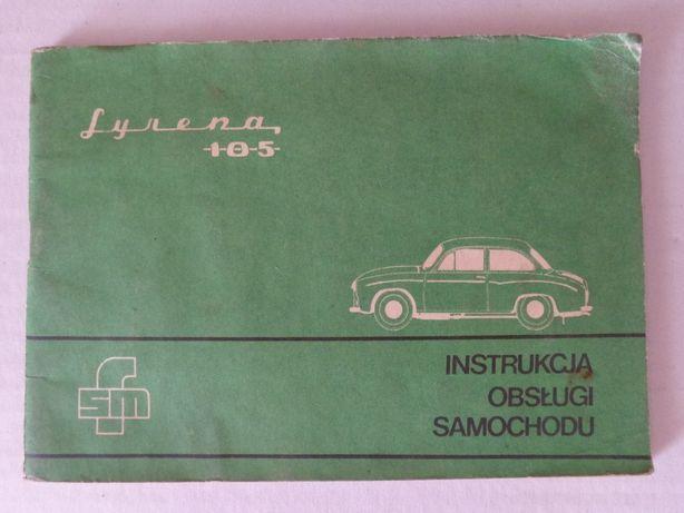 SYRENA 105 - Instrukcja obsługi samochodu.