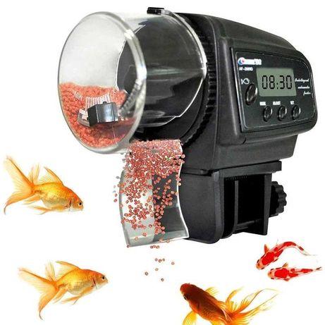 Автоматическая кормушка для аквариума с таймером, дозатором и дисплеем